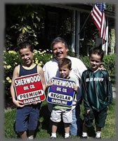 Don Sherwood and  grandsons